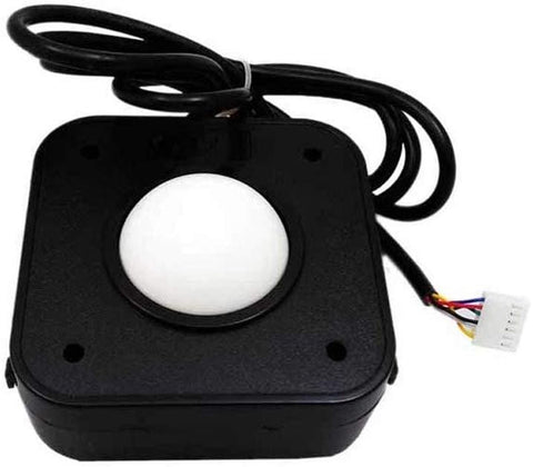 Arcade White Trackball Mouse