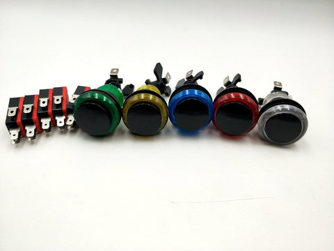 Translucent LED Push Buttons - Black Plunger