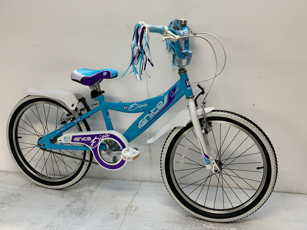 "Kids Bike 20"" Ignite Diva - Purple/White"