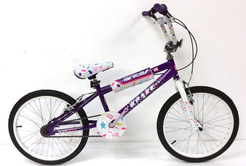 "Kids Bike 20"" Ignite Kraze BMX - Purple/White"