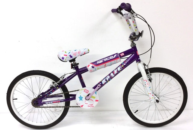 "Kids Bike 18"" Ignite Kraze BMX - Purple/White"