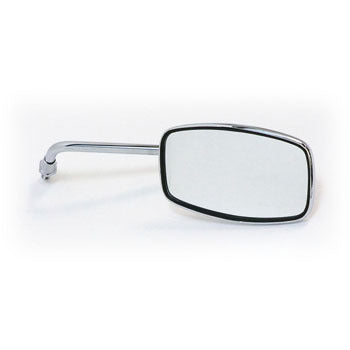 Mirror to suit C50 (1967-1977) - Genuine Honda - Chrome Rectangular