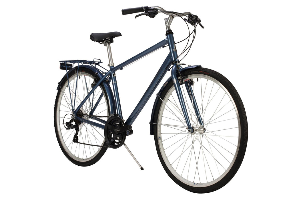 Gents Hybrid Bike Raleigh Pioneer Crossbar