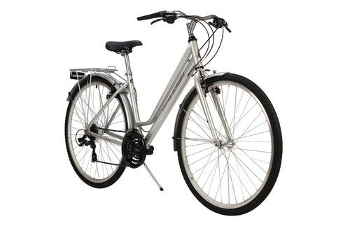 Ladies Hybrid Bike Raleigh Pioneer Lowstep