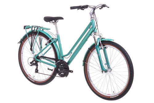 Ladies Hybrid Bike Raleigh Pioneer Trail Lowstep