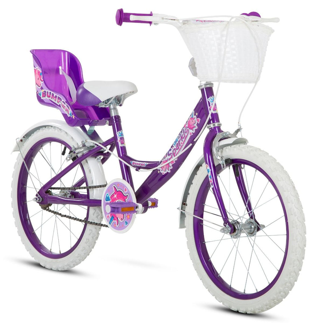 "Kids Bike 18"" Bumper Sparkle - Purple"