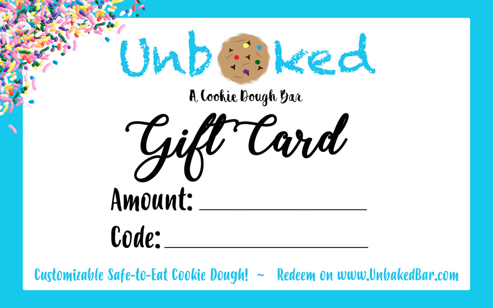 Unbaked Gift Card