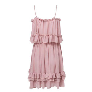Aries Off Shoulder Chiffon Summer Dress