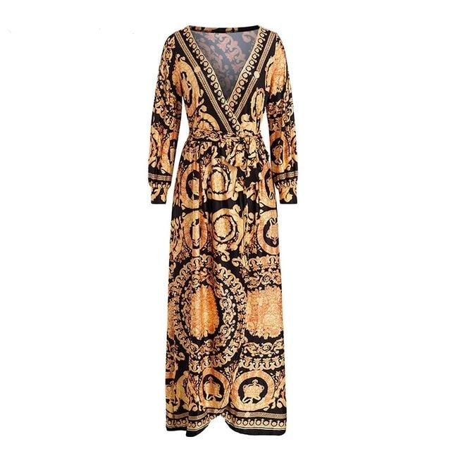 Gladys Autumn Vintage Maxi Dress