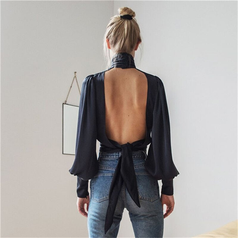 Fearless Girl Kaylee Loose Blouse Backless