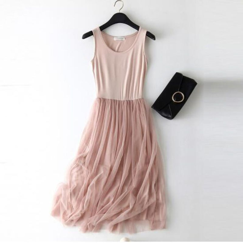 Mariel Elastic Lace Vest Summer Dress