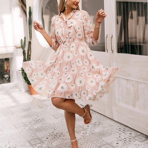 Monique Floral Print Boho Dress