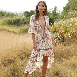 Fearless Girl Savannah Summer Casual Irregular Dress