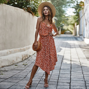 Amalia Polka Dot Maxi Dress