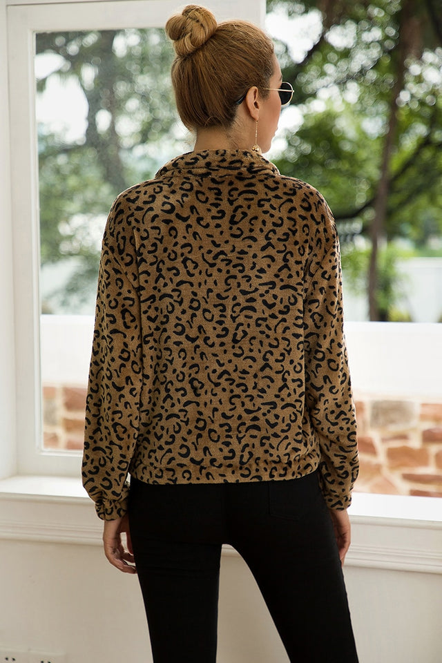 Fearless Girl Luna Leopard Woolen Coat