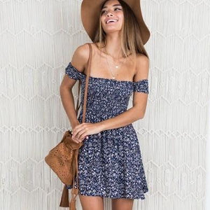 Aerie Floral Print Elegant Mini Dress