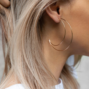 Fearless Girl Moon Bohemia Hollow Earrings