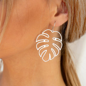 Fearless Girl Leaf Bohemian Hollow Earrings