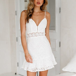 Fiona Lace White Dress