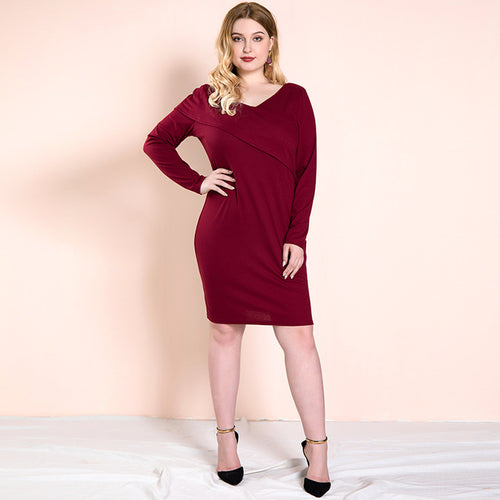 Fearless Girl Evelyn Red Solid Bodycon Dress