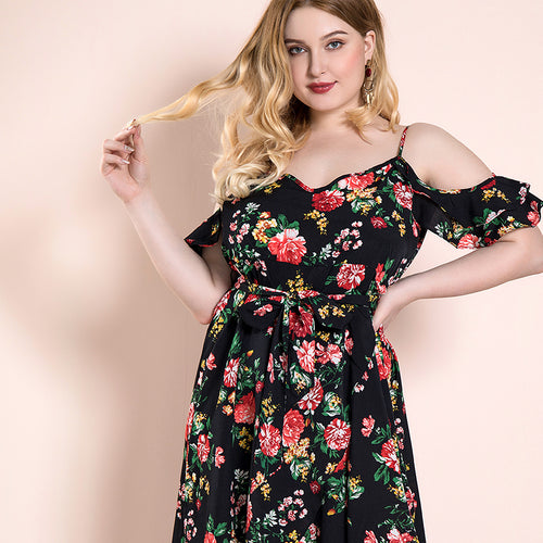 Fearless Girl Charlotte Floral Printed Short Sleeve Dress