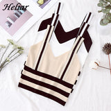 Fearless Girl Mila Sexy Striped Spaghetti Straps Top