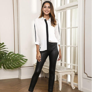 Fearless Girl Charlotte Skinny PU Leather Pants