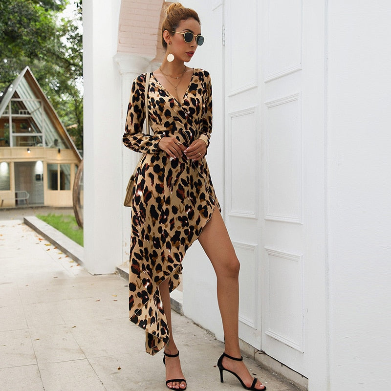 Fearless Girl Ensley Leopard Printed Dress