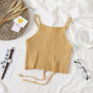Cami Knitted Halter Tank Top