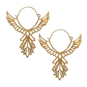 Ethnic Hoop Dangle Earrings