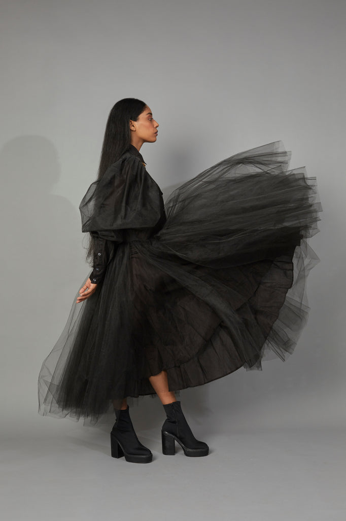 WOLF WING TULLE DRESS