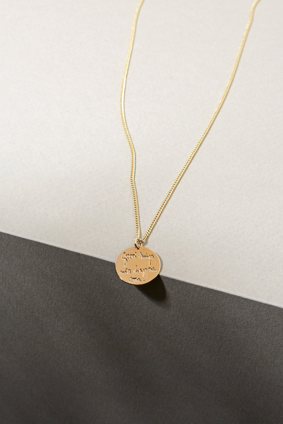 Written Solid Good Necklace
