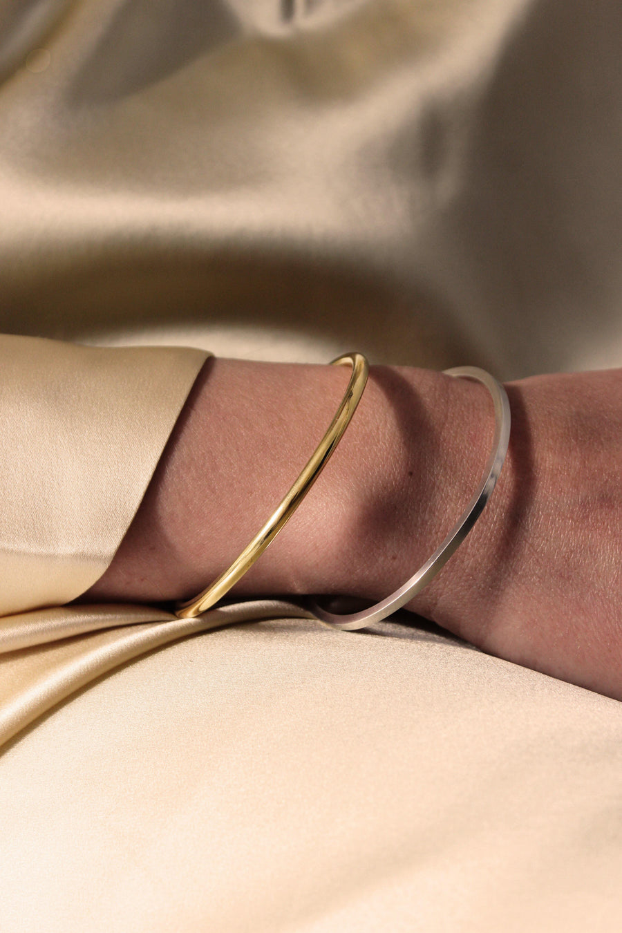 KIKI DIETERLE Simple Bangle Square Wire silver - The Good Store Berlin