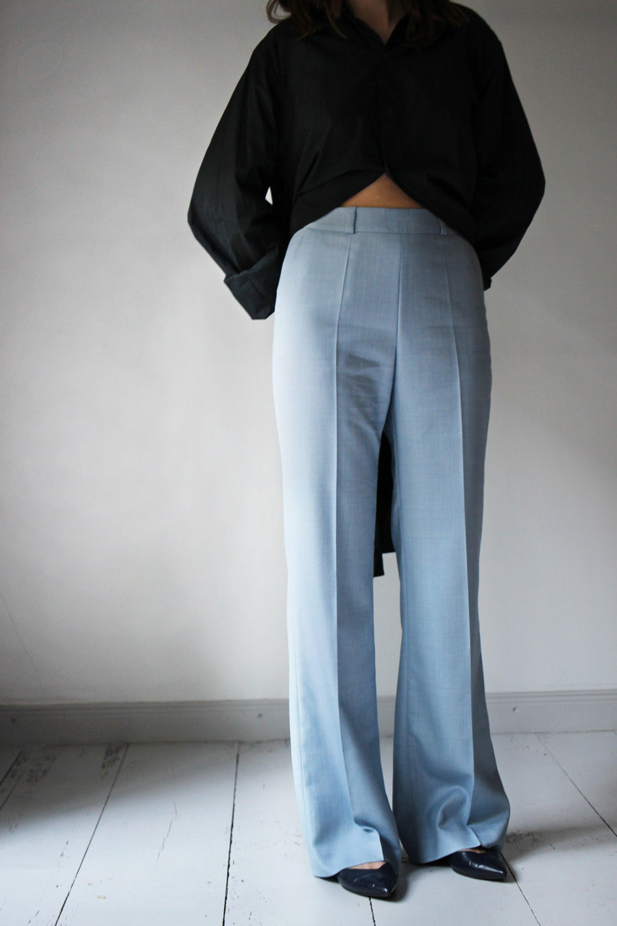 MALAIKARAISS Pants soft blue