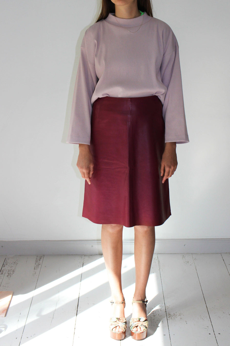 ESCADA Leather Skirt
