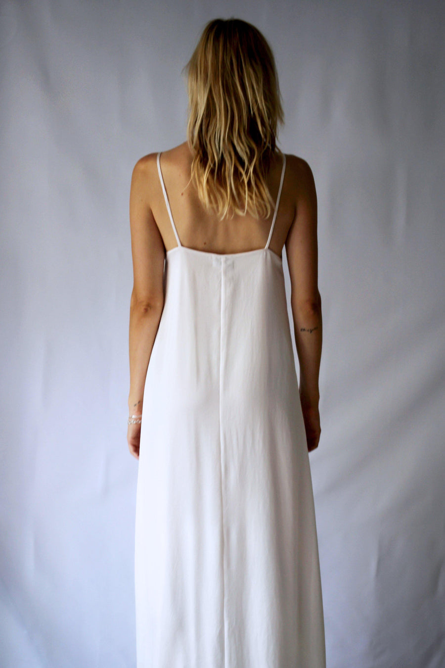 GOOD SLIP DRESS IVORY