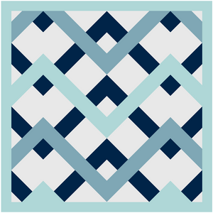 Mod Peaks Quilt Pattern Instant PDF Download