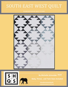 South East West Quilt Pattern Instant PDF Download