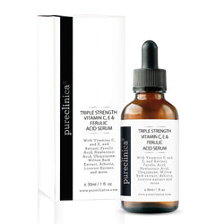 Triple Strength Vitamin C, E & Ferulic Acid Serum (w/Retinol & double weight Hyaluronic Acid) 30ml / 1 fl oz