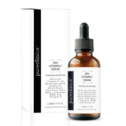 20% Vitamin C Serum (with 4% Hyaluronic Acid, 2.5% L-Arginine, 2.5% Vitamin E, & 1% Ferulic Acid) – 30ml / 1 fl oz