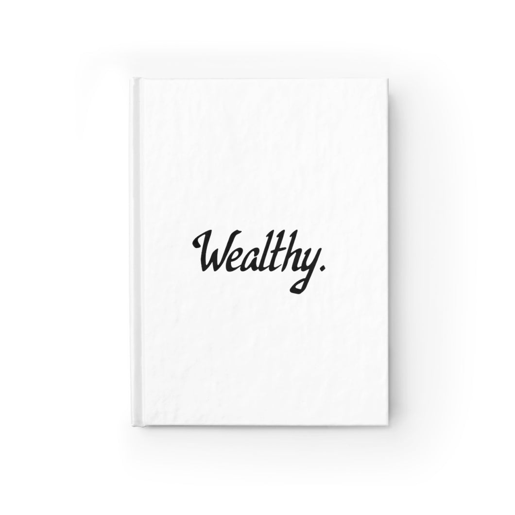 Wealthy, Hardcover Ruled Journal, Believe It Journals by Naz