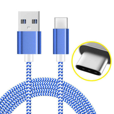 AMZER USB Type C Data Sync Braid Cable (3 Feet/ 1 Meter) - fommystore