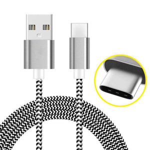 AMZER USB Type C Data Sync Braid Cable (3 Feet/ 1 Meter)
