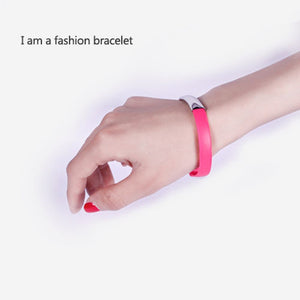 Micro USB Bracelet Cable with Charging and Sync