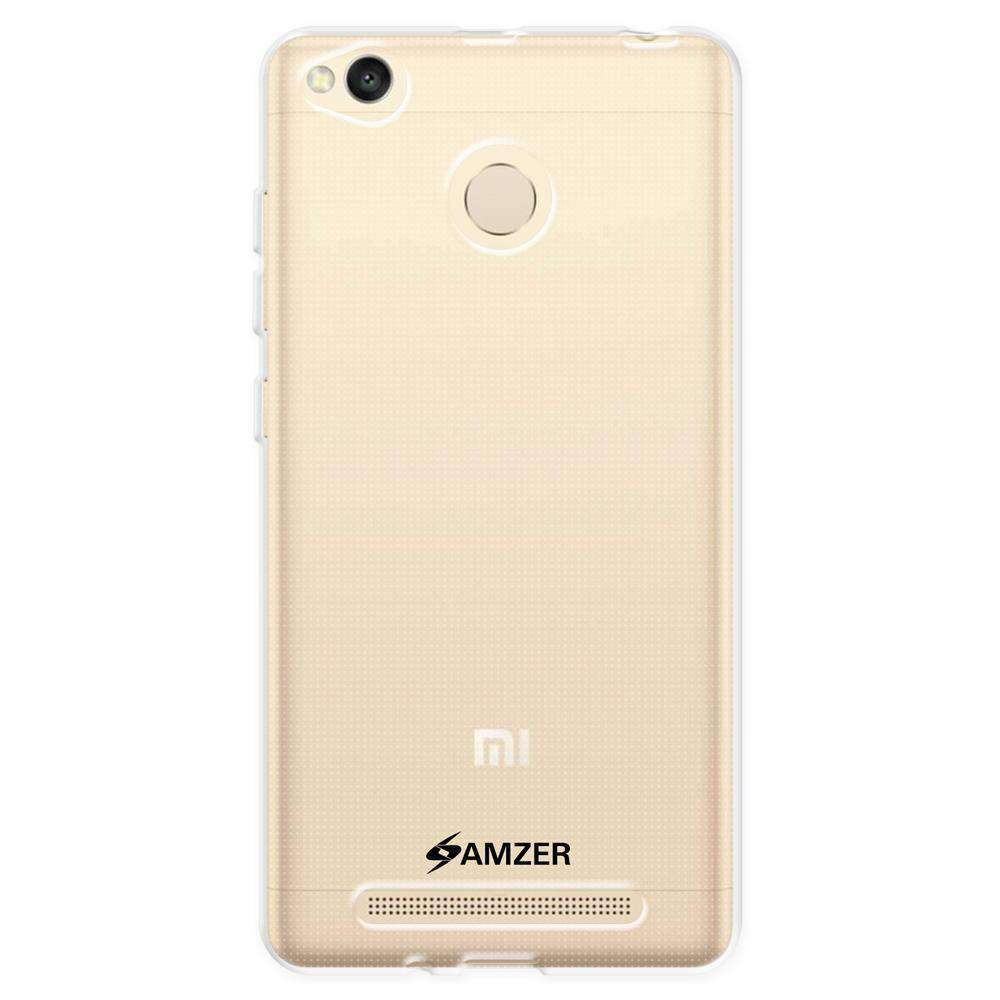 AMZER Pudding Soft Gel TPU Skin Case for Xiaomi Redmi 3 - Crystal Clear - fommystore
