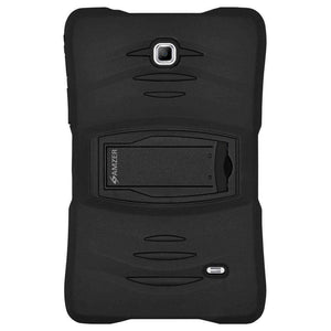 AMZER TUFFEN Hybrid Shockproof Case for Samsung GALAXY Tab 4 7.0 - Black - fommystore