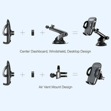 Load image into Gallery viewer, Long Telescopic Arm Universal Sticky Suction Mount - Black - fommystore