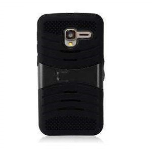 Armor Hybrid Case Shockproof Cover With Kickstand for Alcatel OneTouch Pop 3 5 Inch - Black/Black - fommystore