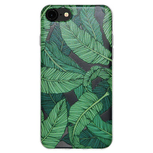Soft Gel TPU Soft Skin Case Tropical Leaf for iPhone 6 - Clear - fommystore