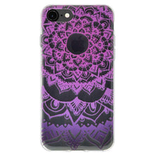 Load image into Gallery viewer, Soft Gel TPU Soft Skin Case Mandala Purple Zen for iPhone 6 - Clear - fommystore